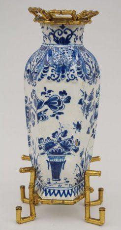 Bud vase in Delft faience - Jean-Luc Ferrand Antiquités