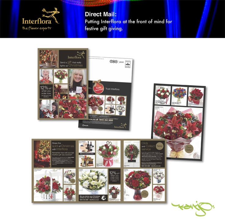 #Directmarketing campaign by Kanjo to promote new Christmas ranges for Interflora