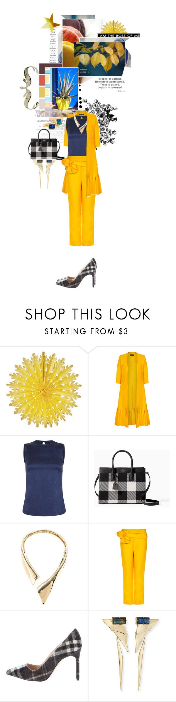 """2229.I am the boss of me"" by sylviedupuywriter ❤ liked on Polyvore featuring CO, Seed Design, Safiyaa, Kate Spade, Alexis Bittar, Manolo Blahnik and Pippa Small"