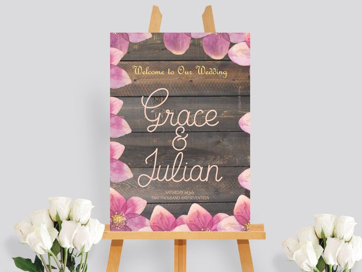 Printable wedding welcome sign, floral wedding welcome, wedding welcome sign floral #WWS218 by BRIDETALKpaperie on Etsy