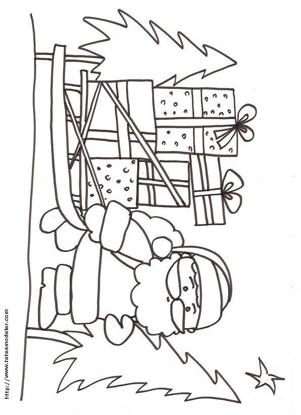 Noel Maternelle Coloriage Noël Maternelle à colorier   Dessin à imprimer
