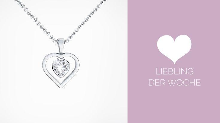 Herzkette in Silber