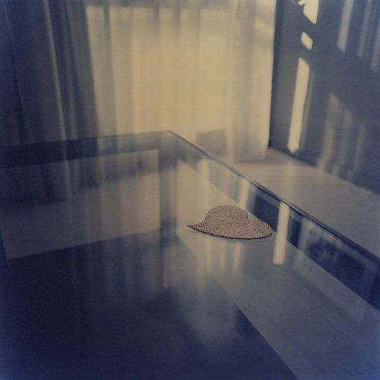 Love heart on table - Hasselblad 500cm hand made darkroom color print