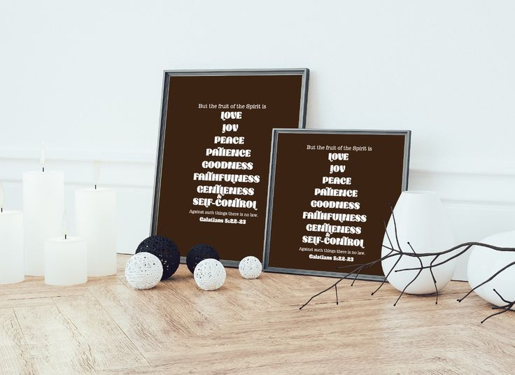 The fruits of the Spirit  2 Printable Digital Files// Pay the vertical one, get the horizontal FREE by Love4D on Etsy