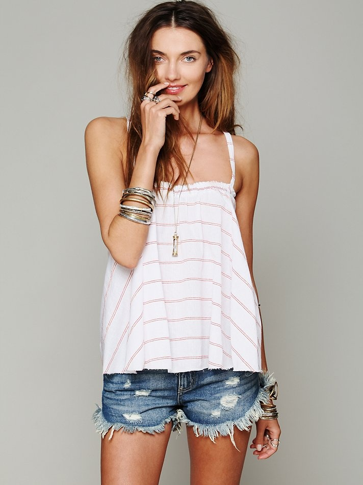 Free People Yarn Dye Swing Top at Free People Clothing Boutique