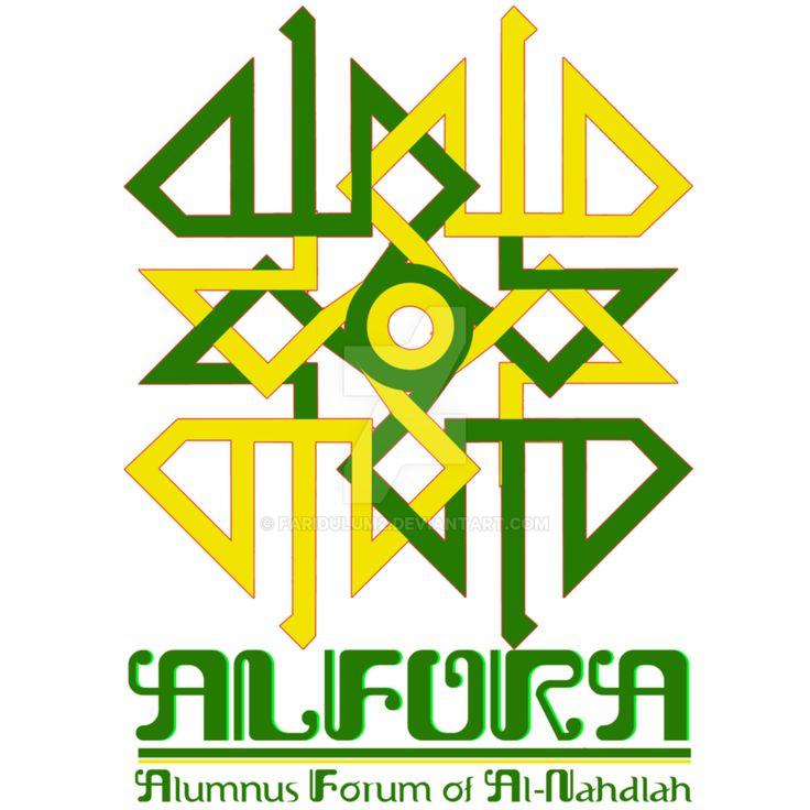Logo Alfora; Alfora adalah sebuah organisasi tersetruktur yang di bentuk sebagai forum alumni Al-Nahdlah.