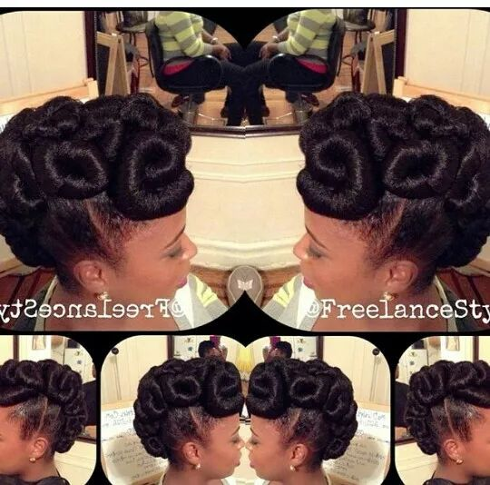 hair protective styles and updos on Pinterest Crochet braids ...