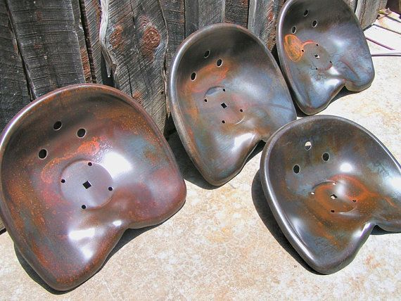 Twelve Deep Steel Tractor Metal Farm Machinery Seats New Old Style
