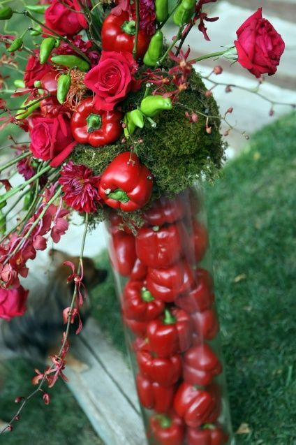 Love the vibrant impact of the red peppers. lr:
