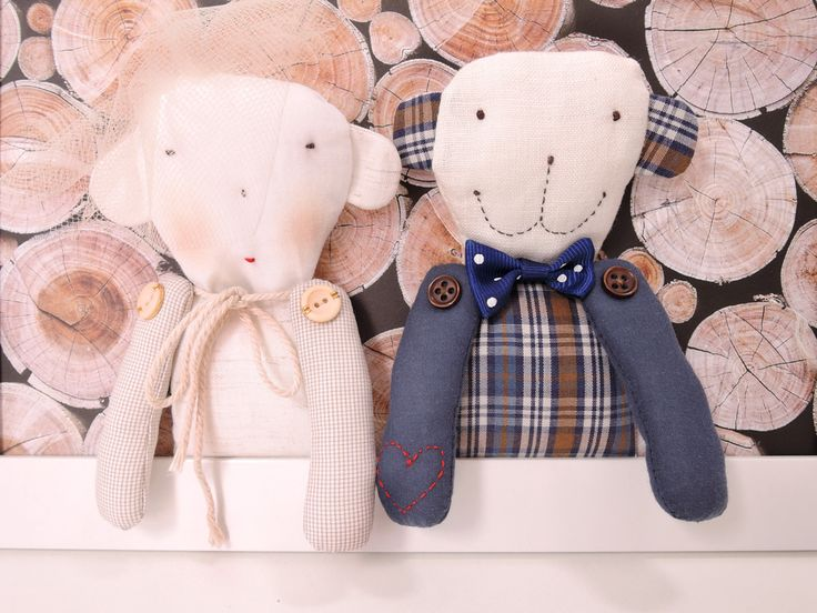 Artist teddy bears - Wedding teddy bears - Wedding decorations - Wedding decor - Wedding present - Bride and groom gift