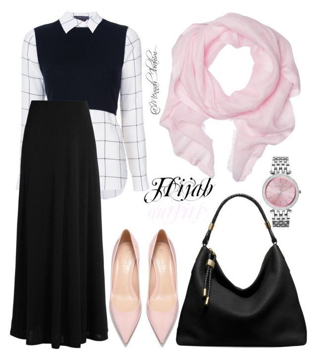 """#Hijab_outfits #pink"" by mennah-ibrahim on Polyvore featuring Alice + Olivia, The Row, MICHAEL Michael Kors, Love Quotes Scarves and Michael Kors"