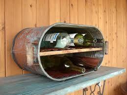 Copper Tub Wine Rack - Shabby Chic Home Decor - Vintage Repurposed Copper Wash…