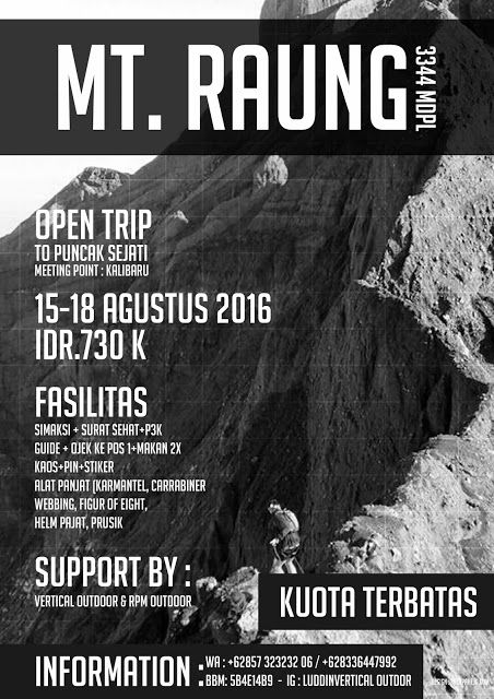 kalapahejo: contoh design poster pendakian gunung minimalis