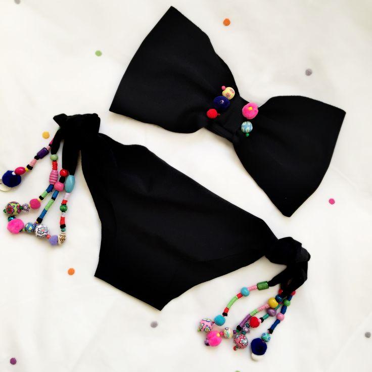 black boho bikini