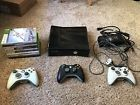 Used Xbox 360 Console 3 Controllers and 9 Games