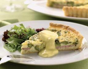 Canadian Bacon & Asparagus Quiche | Asparagus Month | Pinterest