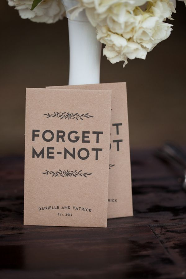 forget me not seed favors // photo by Wedding Photos Wedding