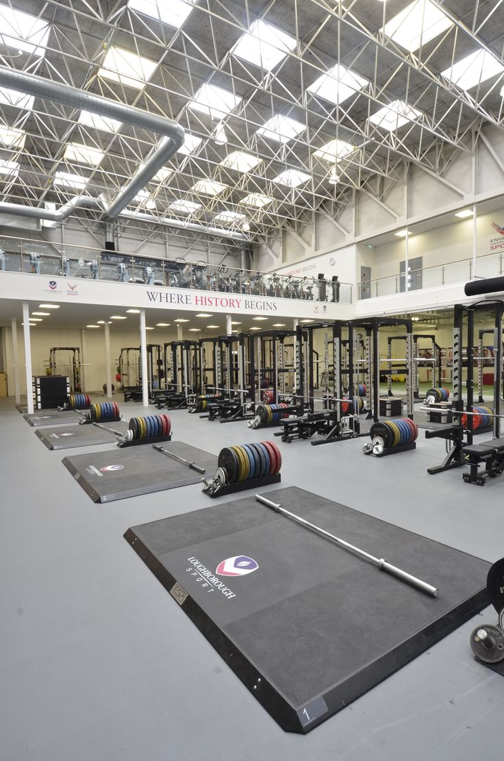 ESP Fitness Lifting Platforms at Powerbase Gym, Loughborough University - ESP designed and fitted the leading Strength & Conditioning facility in the UK and Europe, Loughborough University's, POWERBASE gym.  The facility was renovated in 2011 for Team GB's 2012 Olympic Games preparation camp. The 17,000 ft2 (1,600 m2) facility boasts an impressive 18 Power Racks; 21 Lifting Platforms; throwing walls and a 5 lane sprint & agility track