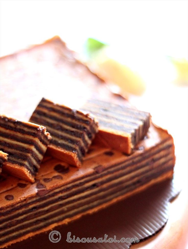 Bisous À Toi: Lapis Legit Chocolate (Egg whites)