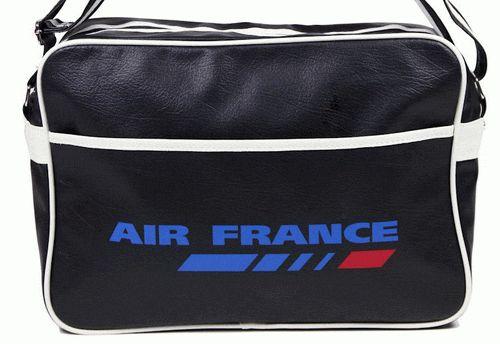 air france vintage flight bag