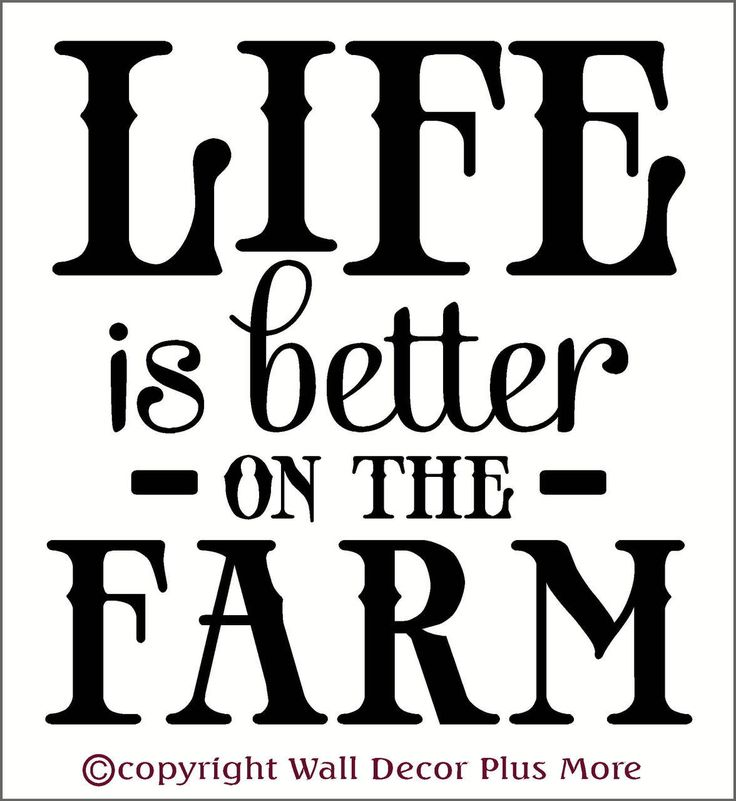 State Farm Quote: Life Is Better On The Farm Wall Decal Quotes Country Wall