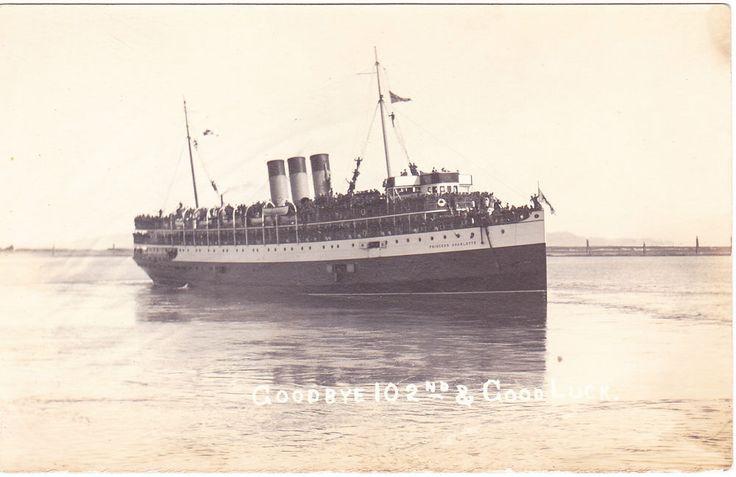 BC – COMOX, 102nd Battalion CEF, C.P.R. Princess Charlotte c.1916 RPPC