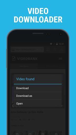 Downloader & Private Browser v2.4.26 [Premium]   Downloader & Private Browser v2.4.26 [Premium]Requirements:4.1Overview:Downloader & Private Browser allow you to easily download files to Android.  Description The App is a fully protected password locked vault for your media that will prevent anyone from accessing your private collection. Keep your favorite videos always at hand and watch them whenever and wherever you like. KEY FEATURES Browser - Full screen - Bookmarks - History - Smart…