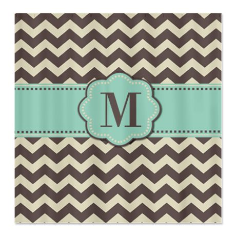 brown mint monogram shower curtain more monogram shower curtains and monograms ideas