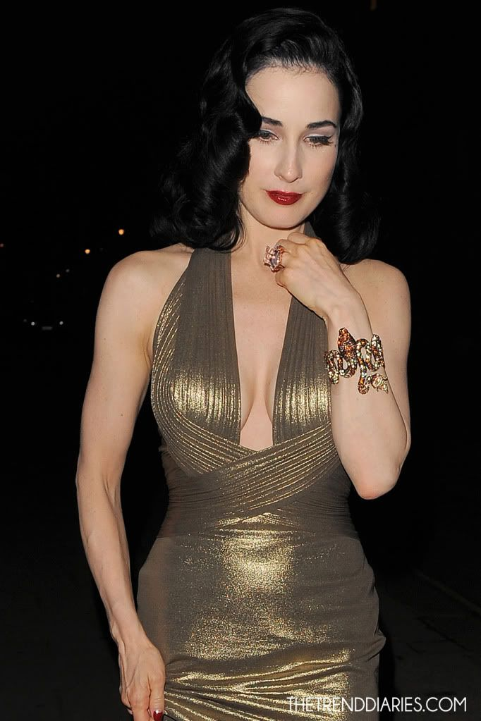 Dita Von Teese out in London, England - May 1, 2012