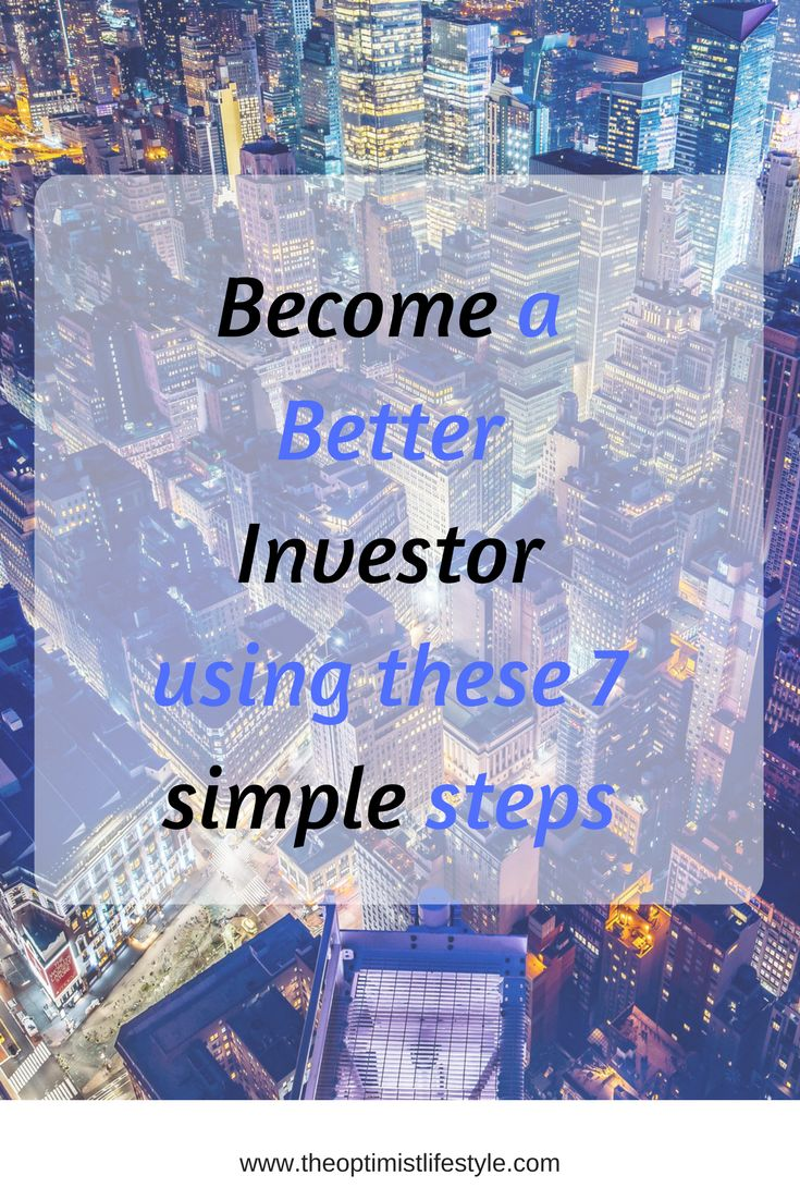 Get more investor savvy by following these 7 simple steps! #investing #personalfinance