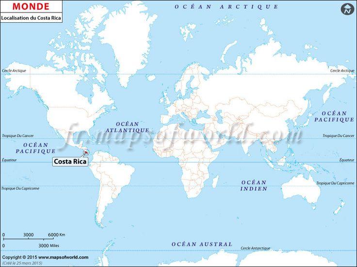 Localisation du #Costa #Rica sur la carte du monde