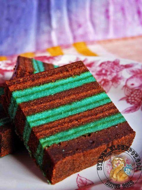 syapex kitchen: Kek Lapis Chocolate Peppermint
