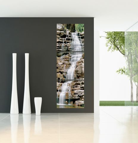 Rock Waterfall - Photography Triptych Print - 3 Panel Landscape Photography