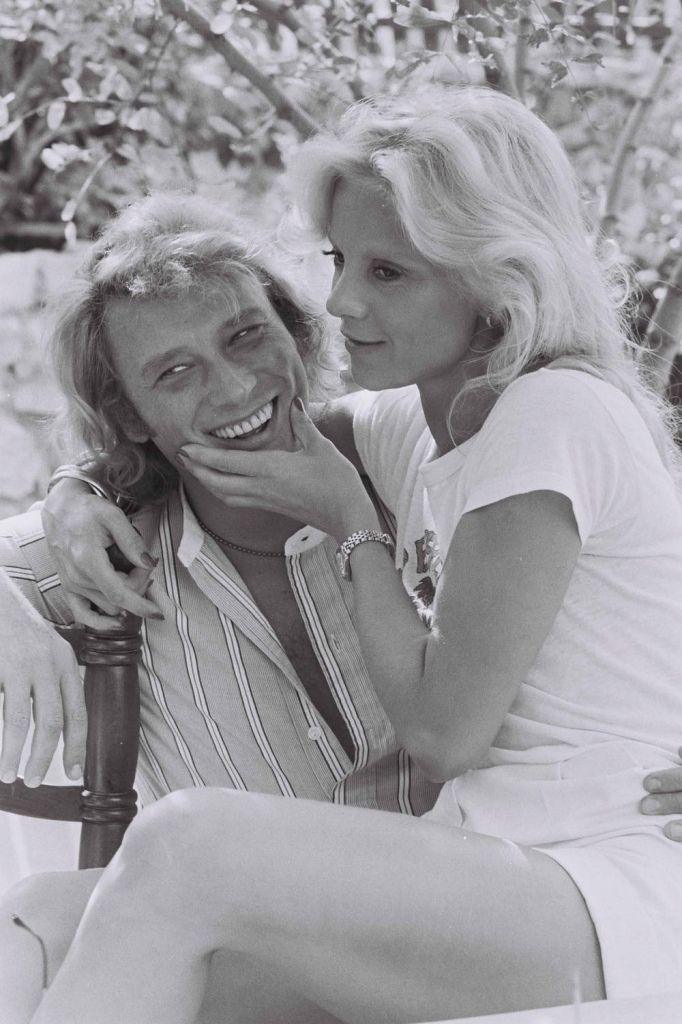 Famous French couple Johny Halliday et Sylvie Vartan