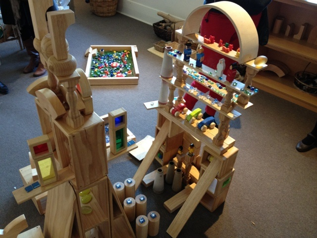 Note the electric candles used in block play. Transforms a play space beautiully. Designing Early Childhood Australia