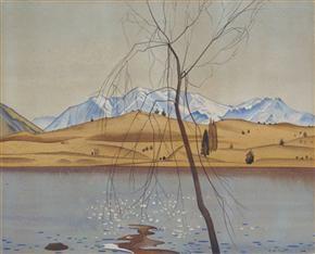 Lake Wanaka by Rita Angus (1938).