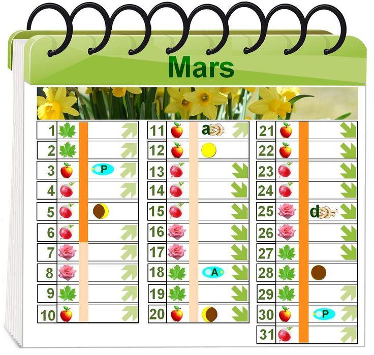 1000 id es sur le th me calendrier lunaire sur pinterest for Jardin lunaire