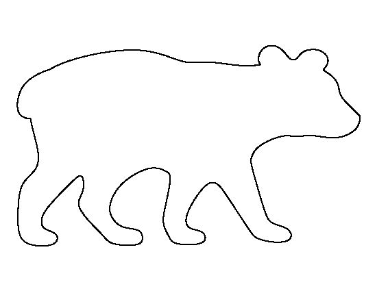 Bear cub pattern. Use the printable outline for crafts, creating stencils, scrapbooking, and more. Free PDF template to download and print at http://patternuniverse.com/download/bear-cub-pattern/