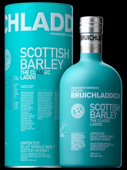 Bruichladdich, medium bodied whisky with some peat influence (compare with blend 60% malt BNJ Baillie Nicol Jarvie with Glenmorangie) combine with smoked mackerel/smoked mussels/smoked oysters/smoked duck/smoked venison duck/chicken liver paté/seared scallops and bacon/black cod (Nobu-style).