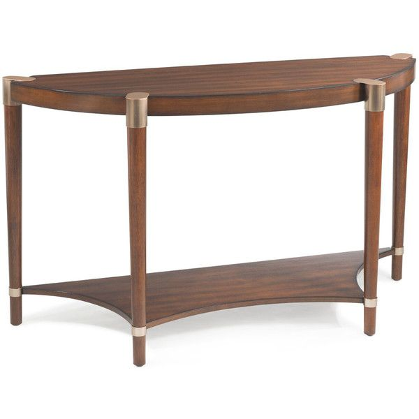 Zuri Demilune Console Table ($503) ❤ Liked On Polyvore Featuring Home,  Furniture,. Half Moon Console TableHalf ...