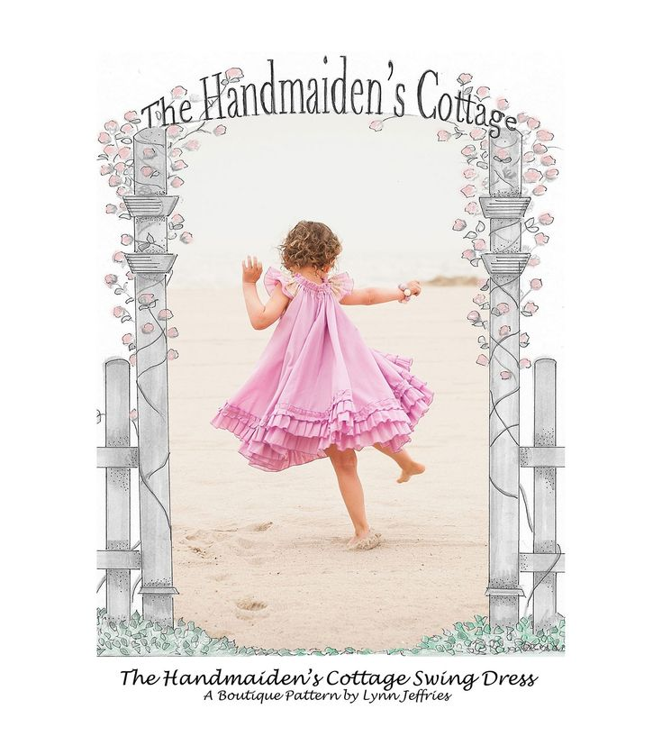 Swing Dress - Designed for little girls who love to twirl, the Handmaiden's Cottage Swing dress is available in sizes 6 to 12 months through size 7/8!