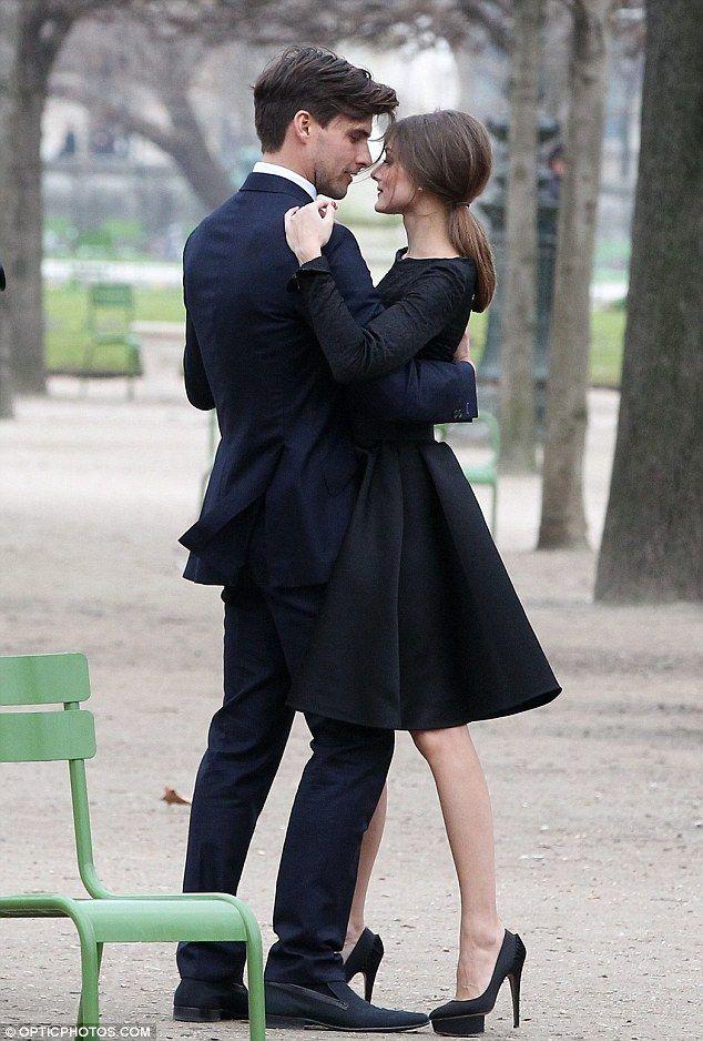 Olivia Palmero and her boyfriend in Tuileries Park, Paris.