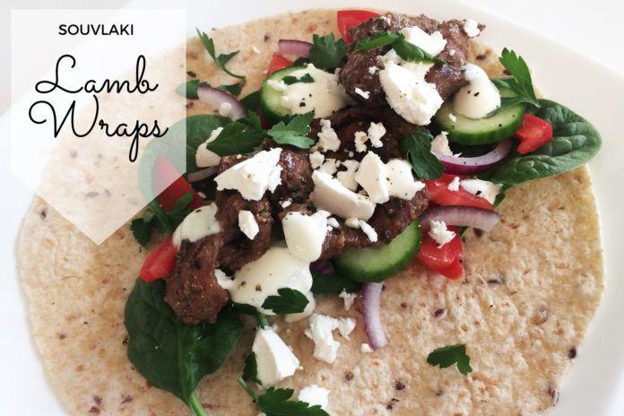 Souvlaki Lamb Wraps Recipe