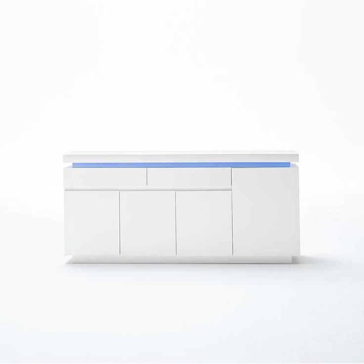 Wohnzimmer Sideboard Mit LED Farbwechsel Beleuchtung Hochglanz Weiss Jetzt Bestellen Unter
