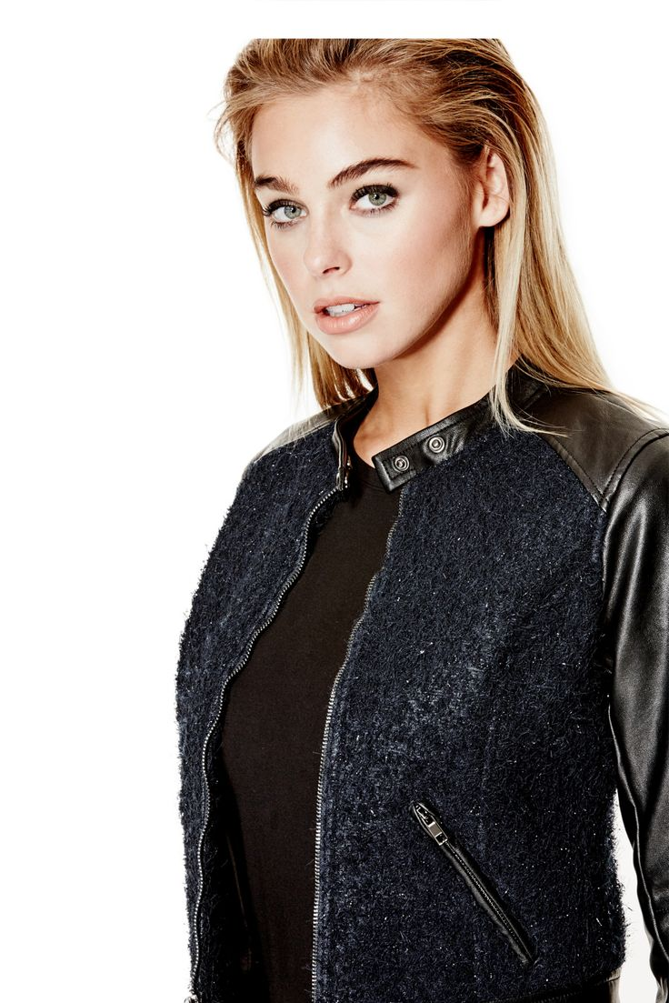 Long-Sleeve Textured Metallic Moto Jacket | GUESS.com