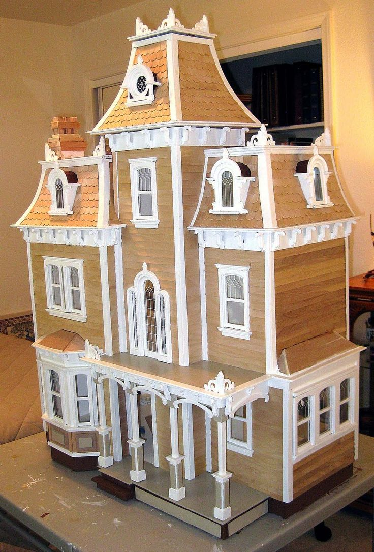 Victorian miniature houses - Victorian Dollhouses Time Crafted Victorian Doll House Part One