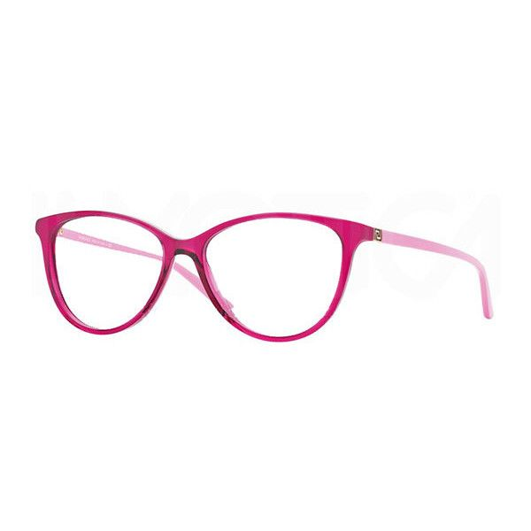 Versace VE3194 5097 Eyeglasses ($125) ❤ liked on Polyvore featuring accessories, eyewear, eyeglasses, transparent fuschia pink, versace eye glasses, versace eyewear, pink eyeglasses, versace eyeglasses and versace