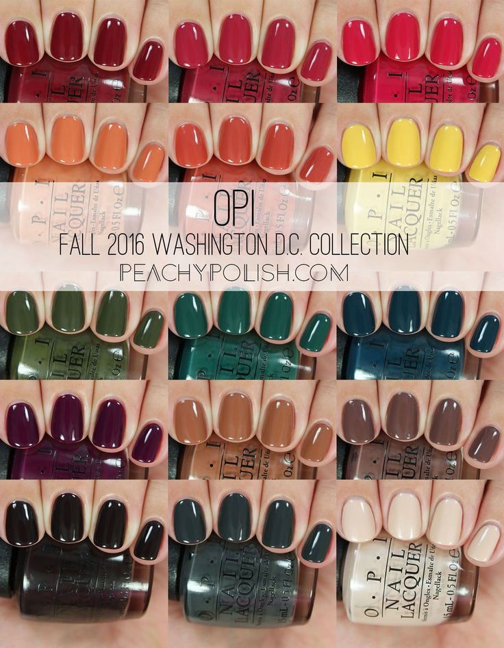 OPI: Fall 2016 Washington D.C. Collection Swatches & Review
