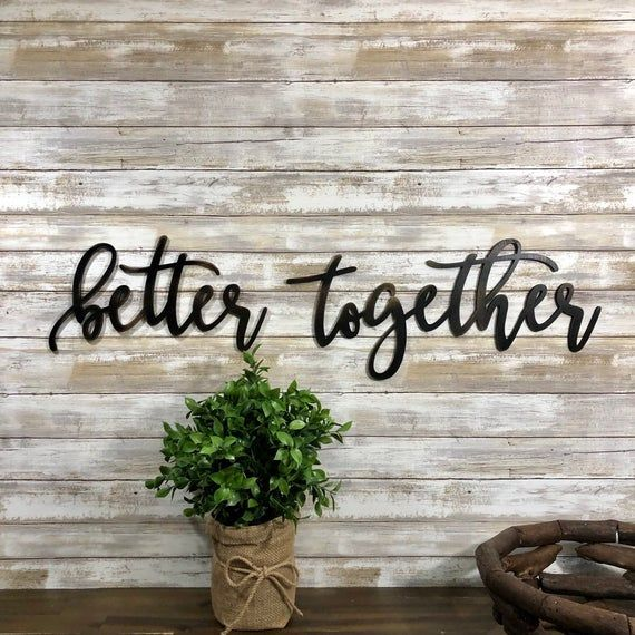 Better Together Wood Words Word Cutouts Better Together Wall Etsy Gallery Wall Decor Metal Wall Decor Bedroom Word Wall Decor