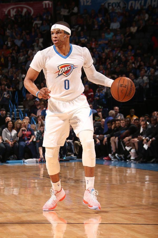 Toronto Raptors v Oklahoma City Thunder. Westbrook scoring his fifth Triple-Double in six games.